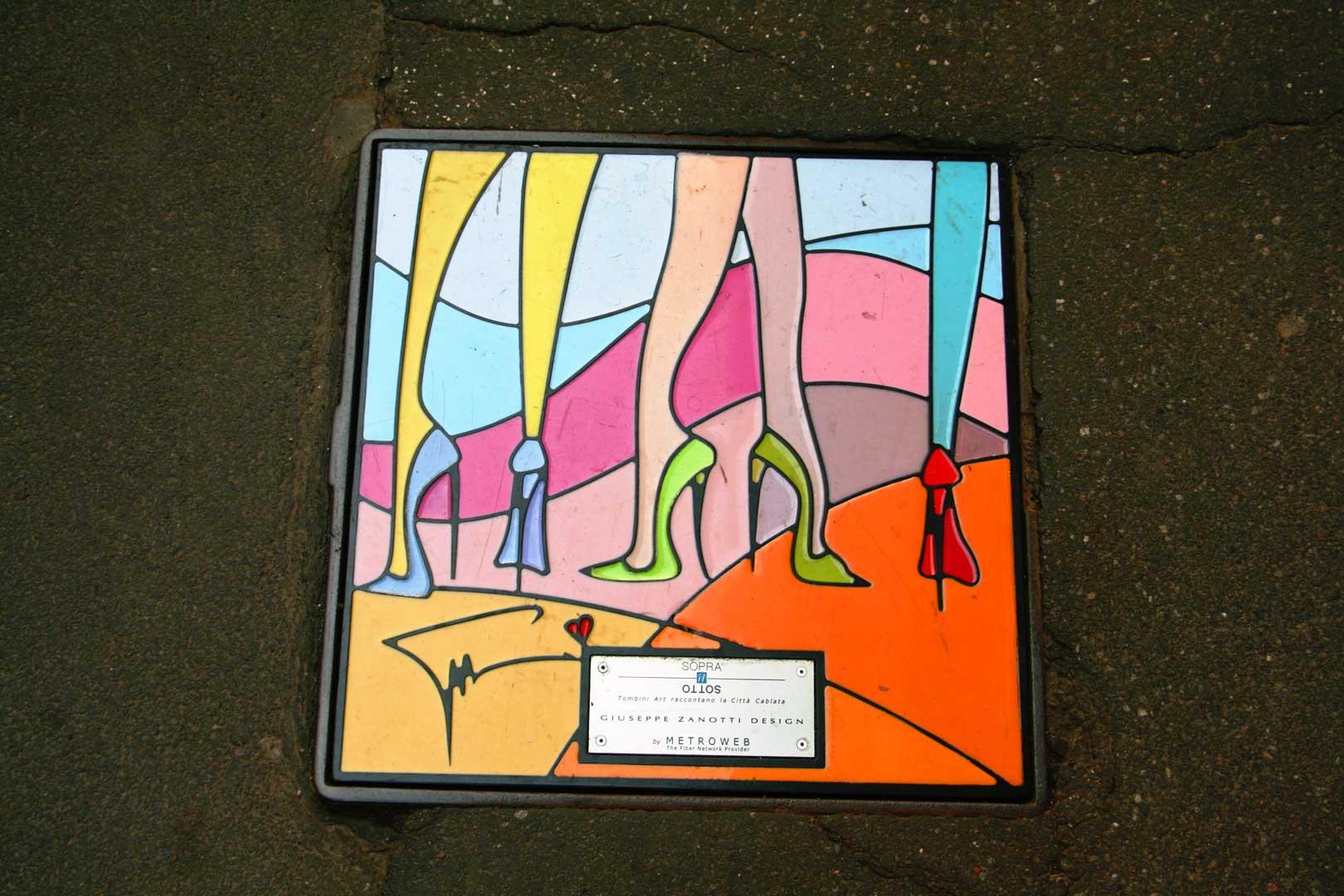 Manholes on the catwalk