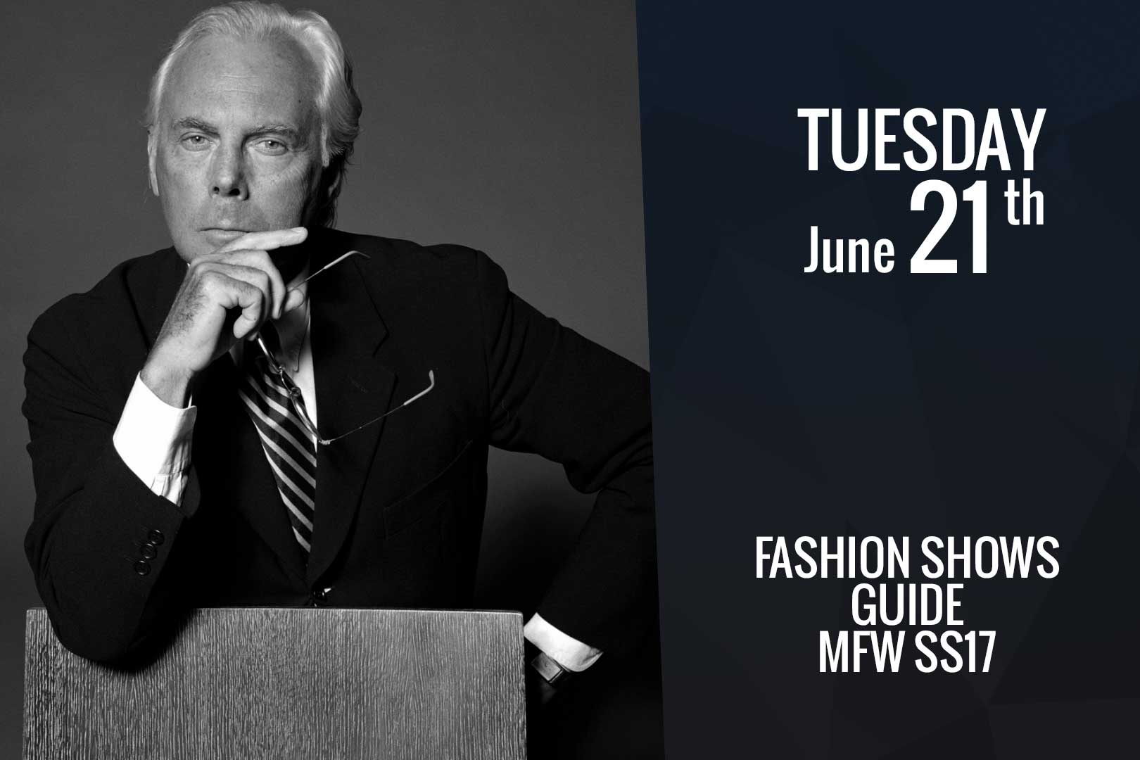 Tuesday June 21st: fashion shows guide