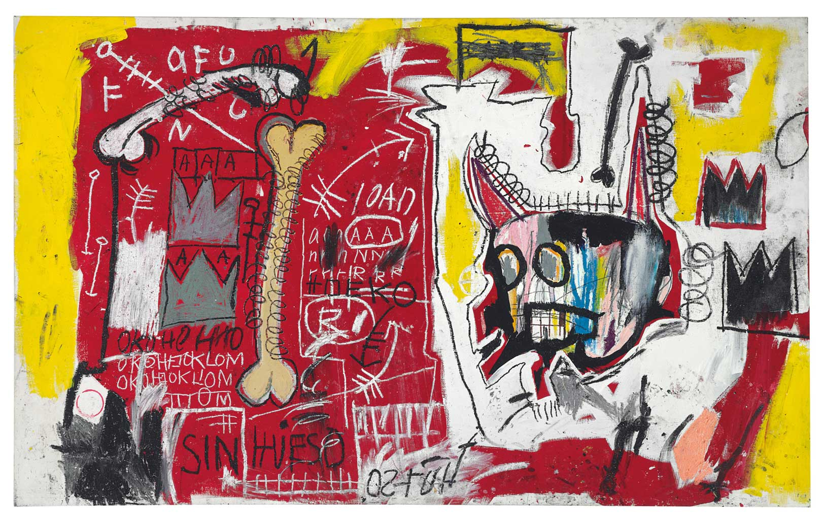 Do Not Revenge, 1982 Acrylic and oil stick on canvas, 132x213,3 cm Private collection © The Estate of Jean-Michel Basquiat by SIAE 2016