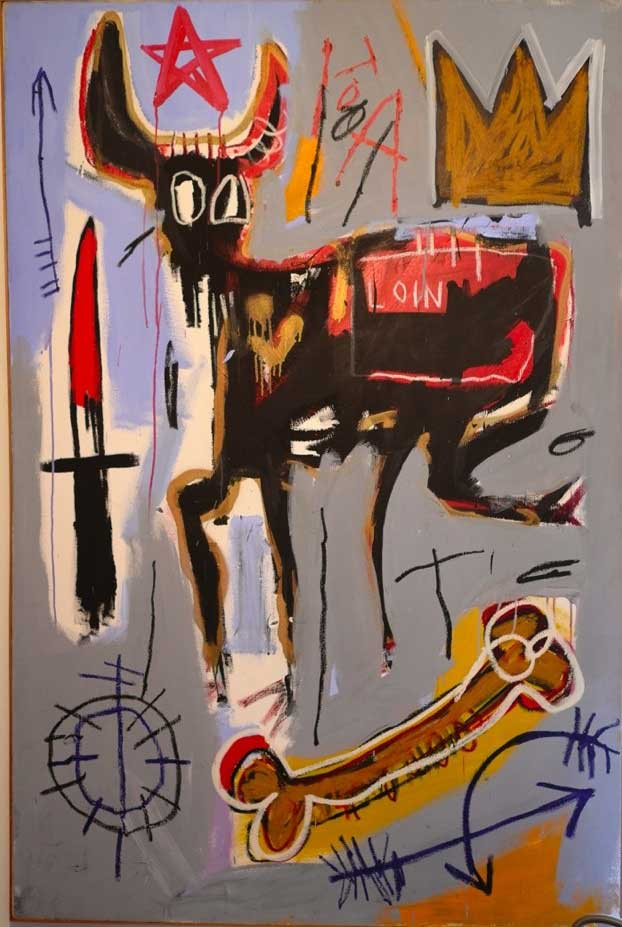 Loin, 1982 Acrylic, colored oil sticks and pastel on canvas, 182,8x121,9 cm Private collection © The Estate of Jean-Michel Basquiat by SIAE 2016