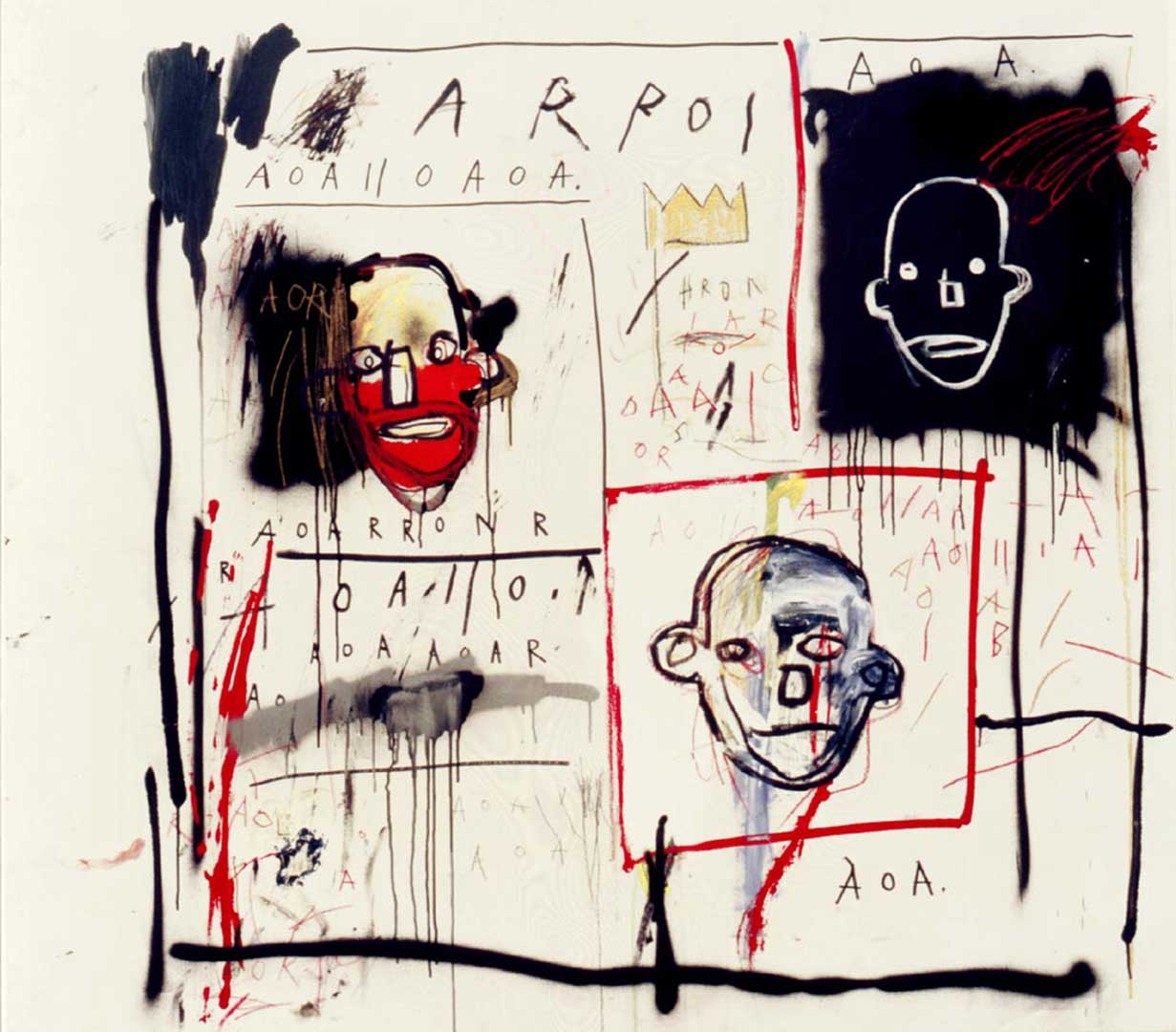 Untitled, 1981 Oil, oil stick and spray paint on canvas, 130x142,8 cm Private collection © The Estate of Jean-Michel Basquiat by SIAE 2016