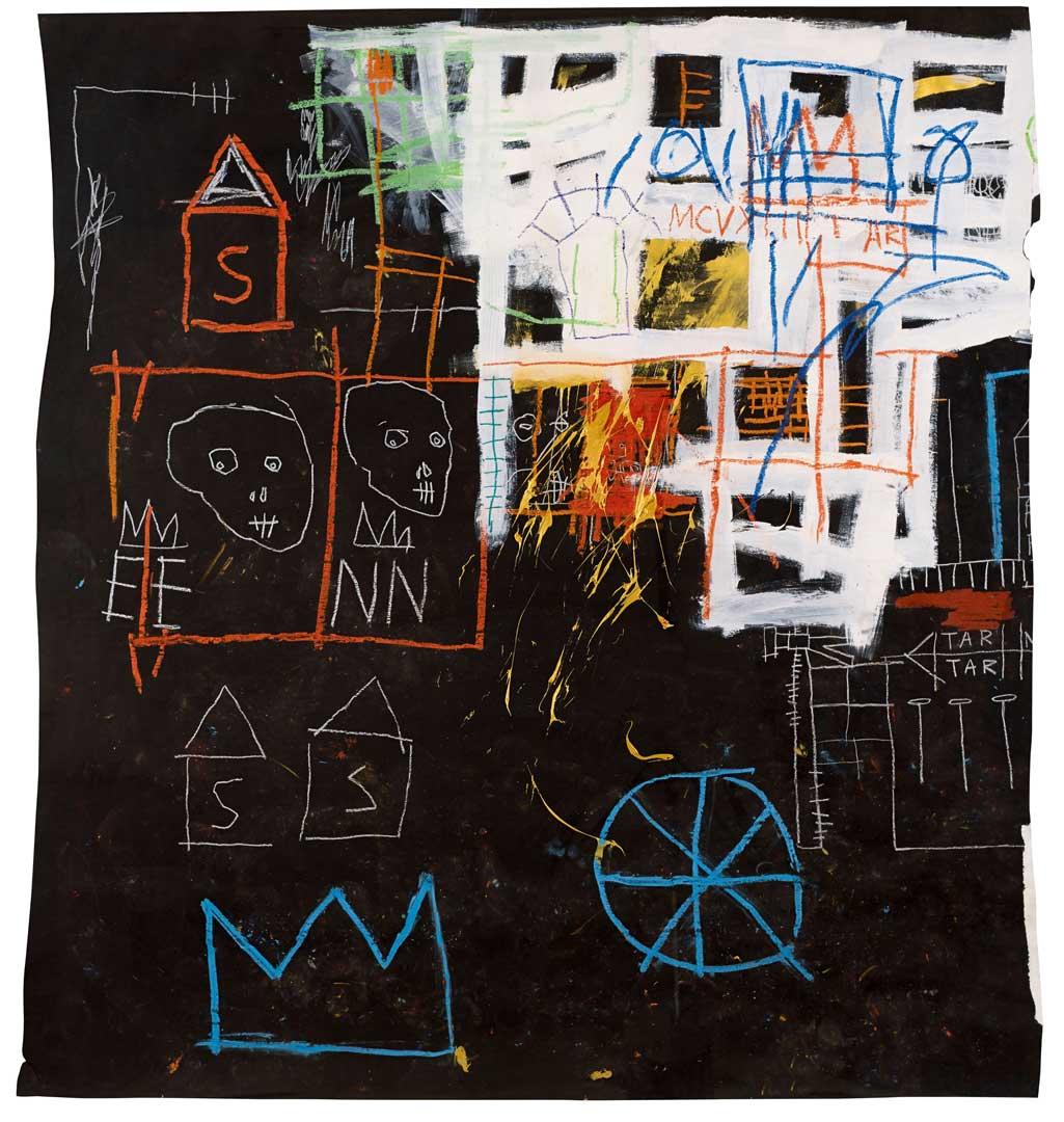 Untitled, 1981 Acrylic, oil stick and chalk on paper, 149,8x137 cm Private collection © The Estate of Jean-Michel Basquiat by SIAE 2016