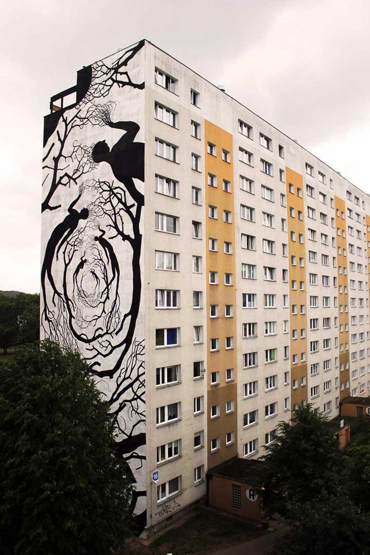 Wunderkammern - Latitude - David de la Mano- Monumental Art Festival (2015) with Pablo Herrero - Gdansk, Poland