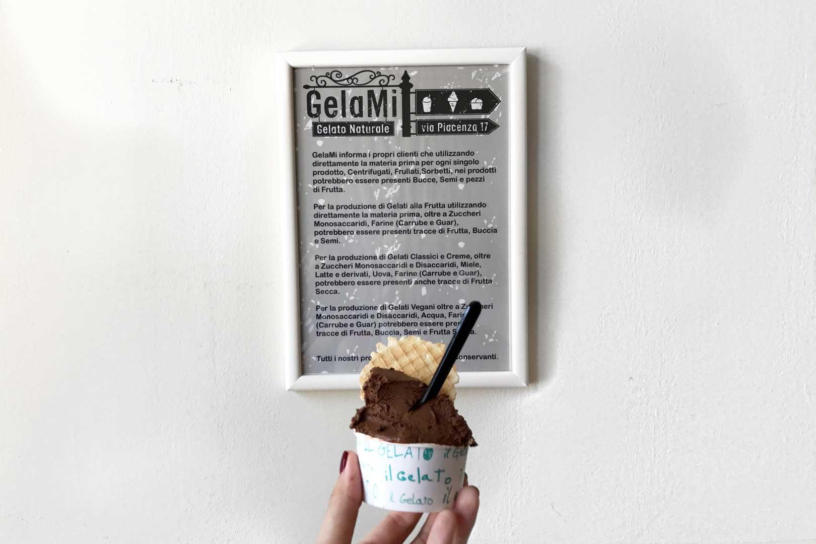 Gelateria GelaMi - Coppetta Strafondente e Banana al Cioccolato