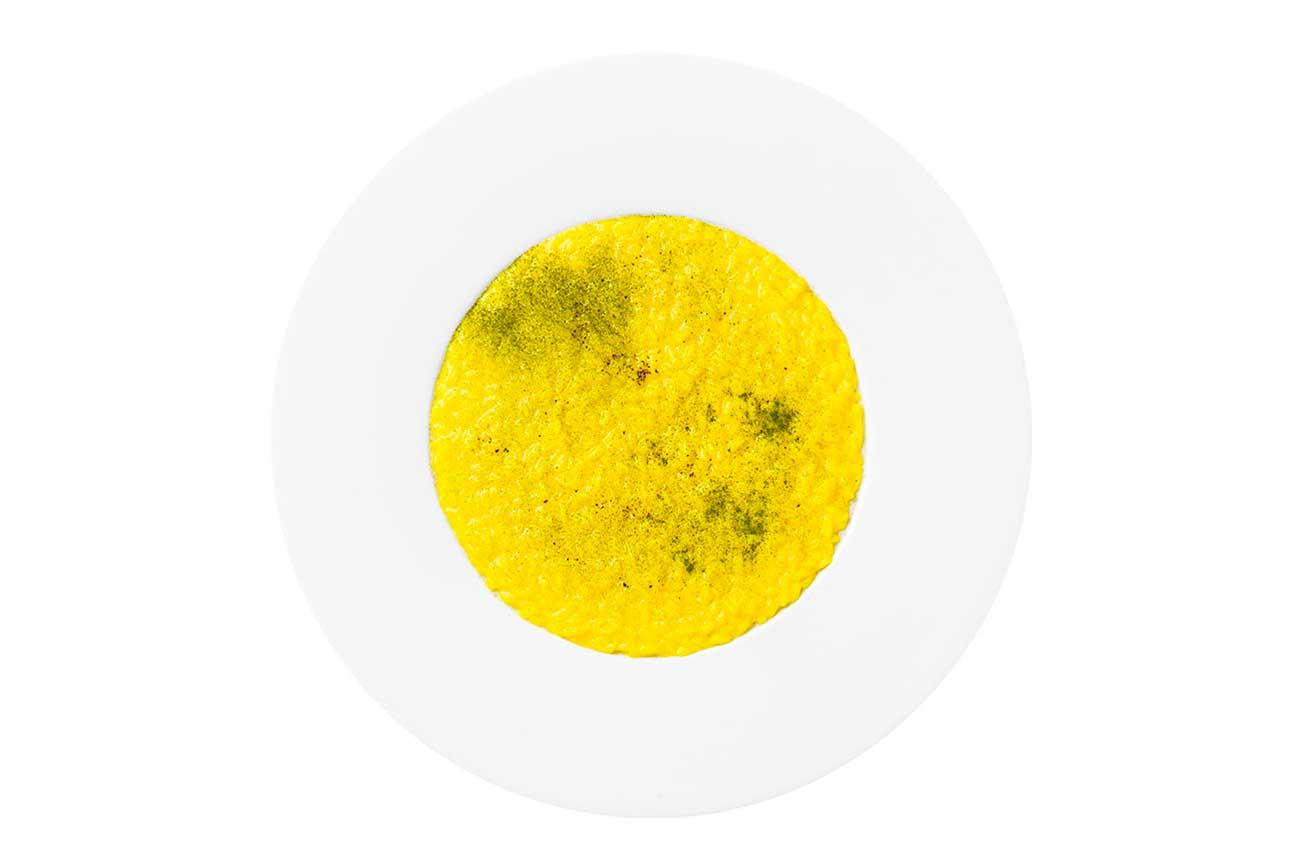 Ristorante stellato Lume - Risotto curcuma