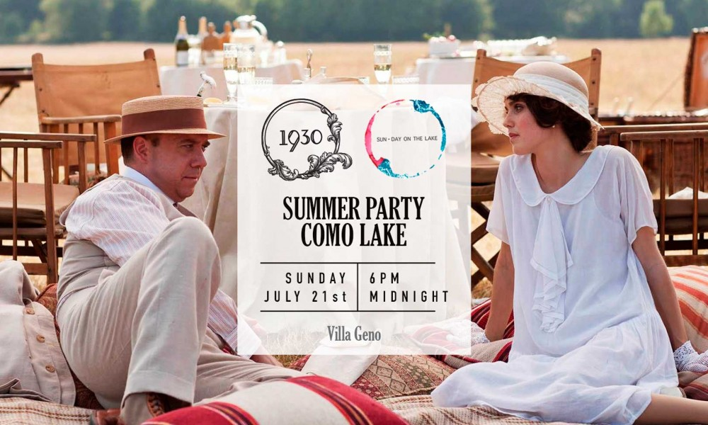 The long-awaited party on Lake Como? Il 1930 Summer Party