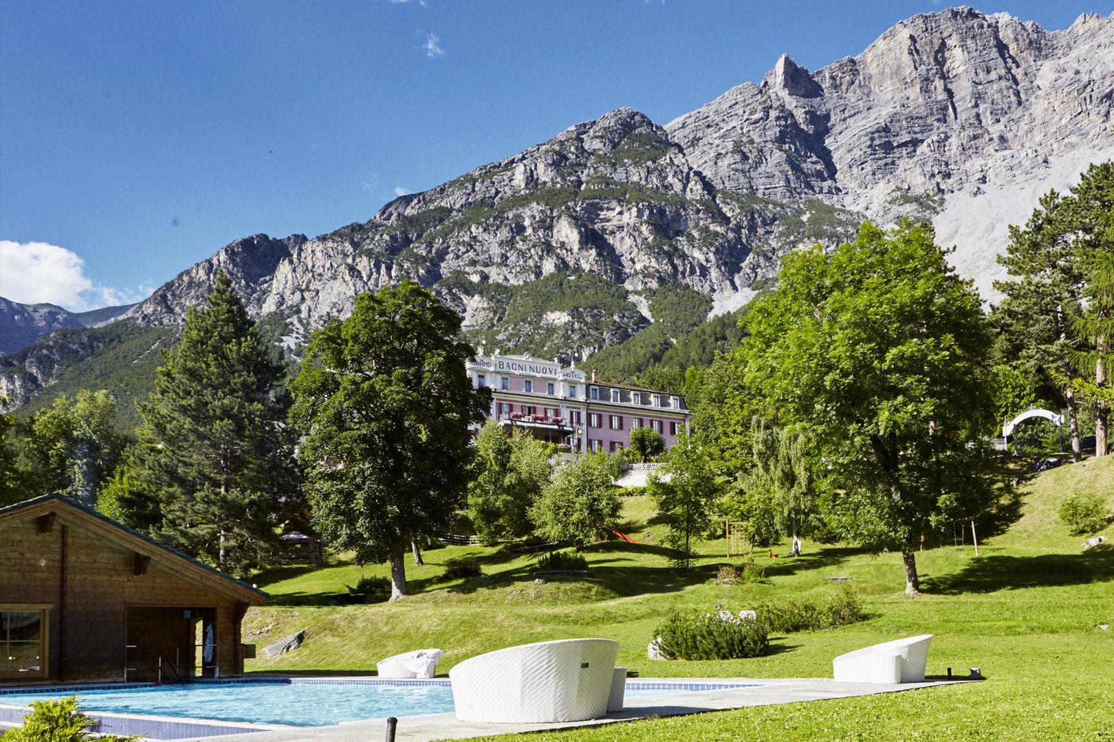 Il giardino del Grand Hotel Bagni Nuovi