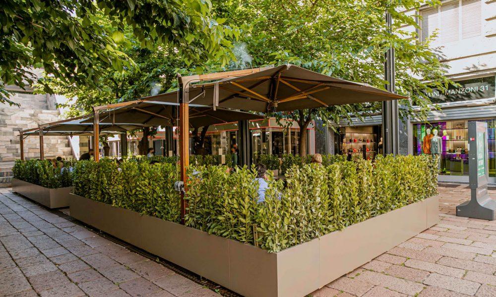Emporio Armani Caffè e Ristorante Inaugura il suo Giardino
